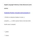 English Language Proficiency Tests-Advanced Level'sarchiveVocabulary