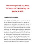 """""""Chánh cương vắn tắt của Đảng"""", """"Sách lược vắn tắt của Đảng"""" của Nguyễn Ái Quốc"""