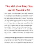 Tổng kết Lịch sử Đảng Cộng sản Việt Nam thế kỉ XX_1