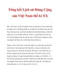 Tổng kết Lịch sử Đảng Cộng sản Việt Nam thế kỉ XX