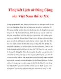 Tổng kết Lịch sử Đảng Cộng sản Việt Nam thế kỉ XX_3