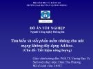 Đề tài: Tìm hiểu và viết phần mềm nhúng cho nút mạng không dây dạng Ad - hoc.