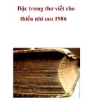 Đặc trưng thơ viết cho thiếu nhi sau 1986  _2