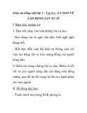 Giáo án tiếng việt lớp 5 - Tập đọc: CA DAO VỀ LAO ĐỘNG SẢN XUẤT