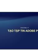 Tự học Indesign CS2 : Tạo tập tin  ADOBE PDF  part 1
