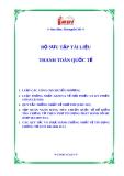 Bộ sưu tập tài liệu luật  thanh toán quốc tế