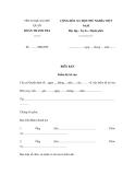 Biên bản kiểm kê tài sản