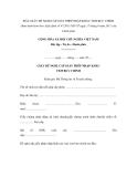 MẪU GIẤY ĐỀ NGHỊ CẤP GIẤY PHÉP NHẬP KHẨU TEM BƯU CHÍNH