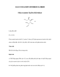GLUCOSAMIN HYDROCLORID