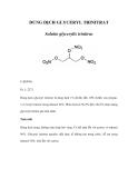 DUNG DỊCH GLYCERYL TRINITRAT