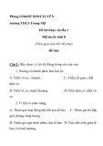 trường THCS Trung Mỹ Phòng GD&ĐT BìNH XUYÊN  Đề thi khảo sát lần 1 Đội tuyển sinh 8