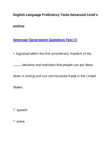 English Language Proficiency Tests-Advanced Level'sarchiveAmerican Government Questions Test