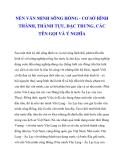 NỀN VĂN MINH SÔNG HỒNG - CƠ SỞ HÌNH THÀNH, THÀNH TỰU, ĐẶC TRƯNG, CÁC TÊN GỌI VÀ Ý NGHĨA_1