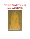 Tìm hiểu Nguyễn Thị Lộ và thảm án Lệ Chi Viên_1