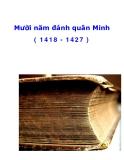 Mười năm đánh quân Minh ( 1418 - 1427 )_1