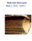 Mười năm đánh quân Minh ( 1418 - 1427 )  _3