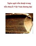 Ngôn ngữ trần thuật trong tiểu thuyết Việt Nam đương đại  _2