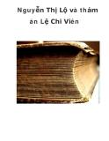 Nguyễn Thị Lộ và thảm án Lệ Chi Viên _1