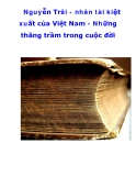 Nguyễn Trãi - nhân tài kiệt xuất của Việt Nam - Những thăng trầm trong cuộc đời_2