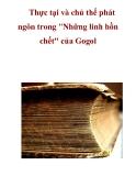 Tài liệu tham khảo: Thực tại và chủ thể phát ngôn trong  'Những linh hồn chết' của Gogol