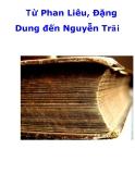 Từ Phan Liêu, Đặng Dung đến Nguyễn Trãi  .