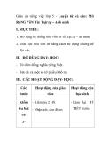 Giáo án tiếng việt lớp 5 - Luyện từ và câu: Mở RộNG VốN Từ: Trật tự – Anh ninh