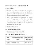 Giáo án tiếng việt lớp 5 - Tập đọc: BẨM ƠI