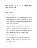 Giáo án tiếng việt lớp 5 - Kể chuyện: LỚP TRƯỞNG LỚP TÔI