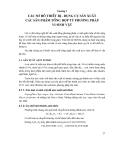 Các quá trình và thiết bị công nghệ sinh học : CÁC SƠ ĐỒ THIẾT BỊ - DỤNG CỤ SẢN XUẤT CÁC SẢN PHẨM TỔNG HỢP TỪ PHƯƠNG PHÁP VI SINH VẬT part 1