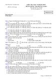 Bộ đề thi Sinh học Ban Khoa Học Tự Nhiên: Đề 6