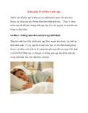 Khắc phục 10 sai lầm về giấc ngủ