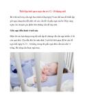 Thiết lập thói quen ngủ cho trẻ 12 - 18 tháng tuổi