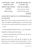 ĐỀ THI THỬ ĐẠI HỌC MÔN VẬT LÝ TRƯỜNG THPT CHUYÊN HẠ LONG SỞ GIÁO DỤC VÀ ĐÀO TẠO QUẢNG NINH