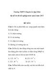 Bộ đề ôn thi tốt nghiệp Trường THPT Chuyên Lê Quý Đôn môn vật lý - ĐỀ SỐ 8