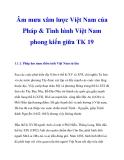 Âm mưu xâm lược Việt Nam của Pháp & Tình hình Việt Nam phong kiến giữa TK 19_1