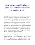 NƯỚC VIỆT NAM DƯỚI MẮT CÁC GIÁO SĨ VÀ NGƯỜI TÂY PHƯƠNG HỒI THẾ KỶ 17 - 18_1