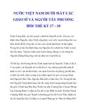 NƯỚC VIỆT NAM DƯỚI MẮT CÁC GIÁO SĨ VÀ NGƯỜI TÂY PHƯƠNG HỒI THẾ KỶ 17 - 18_2