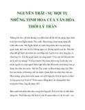 NGUYỄN TRÃI - SỰ HỘI TỤ NHỮNG TINH HOA CỦA VĂN HÓA THỜI LÝ TRẦN_3