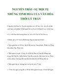 NGUYỄN TRÃI - SỰ HỘI TỤ NHỮNG TINH HOA CỦA VĂN HÓA THỜI LÝ TRẦN_4