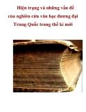 Hiện trạng và những vấn đề của nghiên cứu văn học đương đại Trung Quốc trong thế kỉ mới