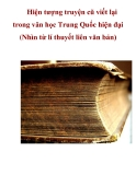 Hiện tượng truyện cũ viết lại trong văn học Trung Quốc hiện đại (Nhìn từ lí thuyết liên văn bản)