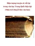Hiện tượng truyện cũ viết lại trong văn học Trung Quốc hiện đại (Nhìn từ í thuyết liên văn bản)