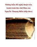 Những biến đổi nghệ thuật trên hành trình thơ chữ Hán của Nguyễn Thượng Hiền (tiếp theo)_1