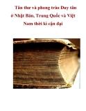 Tân thư và phong trào Duy tân ở Nhật Bản, Trung Quốc và Việt Nam thời kì cận đại_2