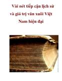 Vài nét tiếp cận lịch sử và giá trị văn xuôi Việt Nam hiện đại  _2