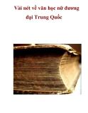 Vài nét về văn học nữ đương đại Trung Quốc