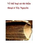 Về thể loại sử thi thần thoại ở Tây Nguyên