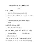 Giáo án tiếng việt lớp 2 - CHÍNH TẢ: Gió