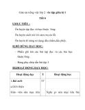 Giáo án tiếng việt lớp 2 - ôn tập giữa kỳ i Tiết 6