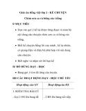 Giáo án tiếng việt lớp 2 - KỂ CHUYỆN Chim sơn ca và bông cúc trắng